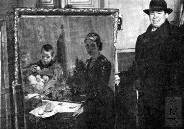 Н.Н. Горлов у своей картины
