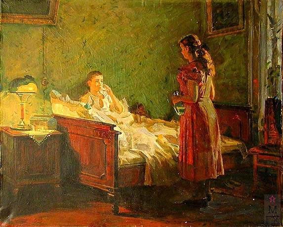 Н.Н. Горлов. У постели больного