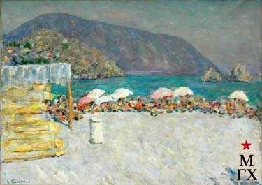 В.Г.Гремитских. Пляж в Гурзуфе