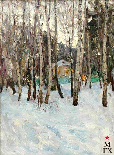 В.Г.Гремитских. Зима в Тарусе