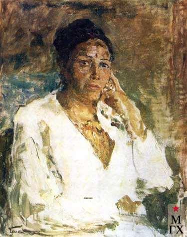 В.Г.Гремитских. Портрет заместителя председателя Совета Минист-ров Киргизской ССР Джамал Ташибековой