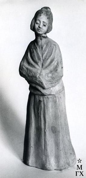 А. И. Григорьев. Девушка (из серии «ЛГ»). 1940. Терракота. 22.7х8.7х6.7.