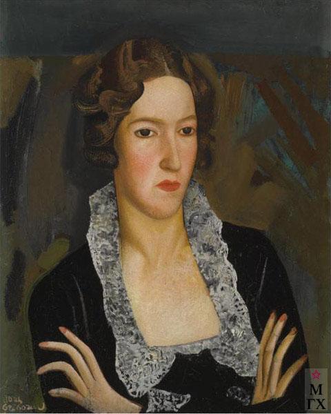 Б.Д. Григорьев. Женский портрет. Холст, масло. 61х49 см.