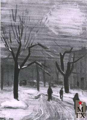 Гринберг В. А. Ленинград. Зима. 1935. Клеенка.М. 67.5х50.5 ГМИ Санкт-Петербурга.