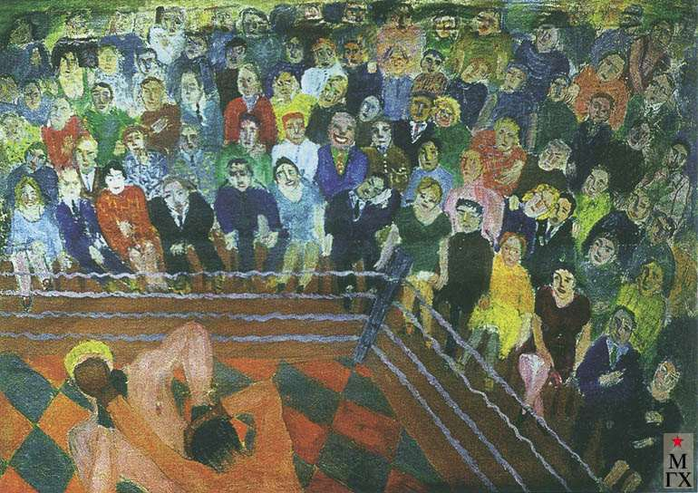 Гуревич М. Л. Бокс. 1929. Х.М. 75х59. Смоленск.