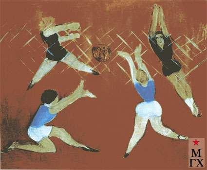 Гуревич М. Л. Волейбол. 1929. Х.М. 51.5х59.5. Смоленск.