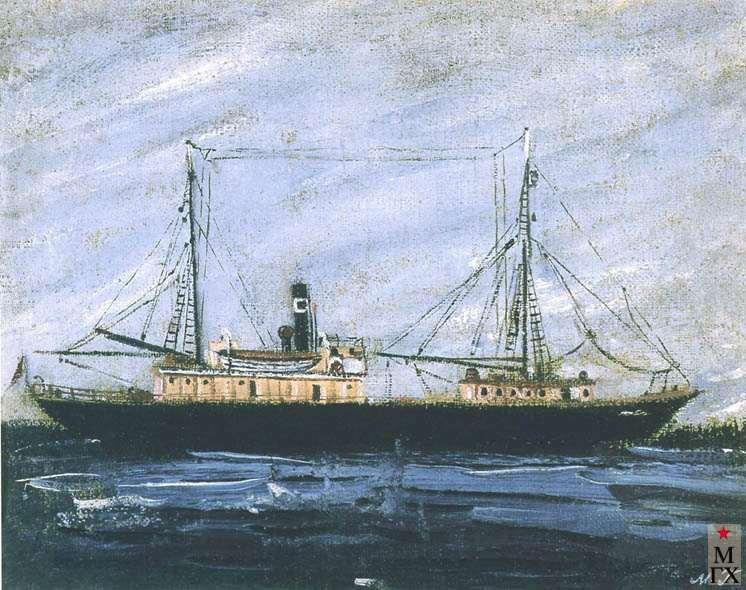 Гуревич М. Л. Полярный разведчик «Персей». 1933. Х.М. 20х25.