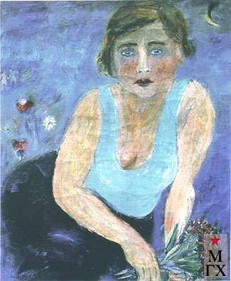 Гуревич М. Л. Девушка в синем. 1929. Х.М. 61.4х53.2. Смоленск.