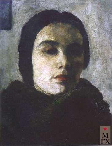 Идельсон Р. В. Автопортрет. Середина 1920-х. Х.М. 58х46.