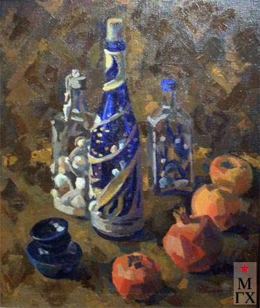 М.В. Иванова. Натюрморт с синей чашкой.