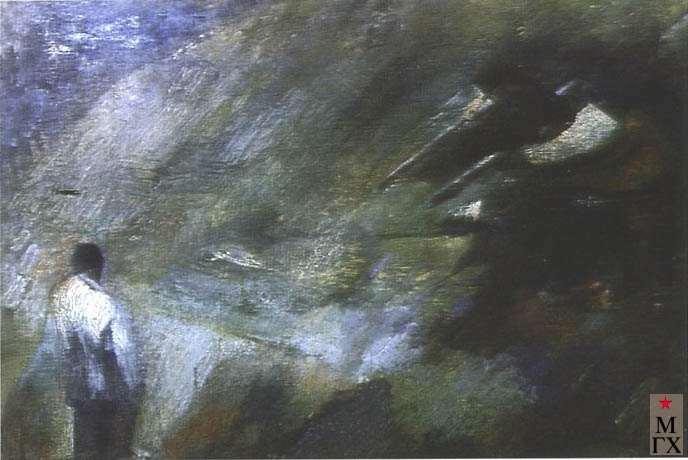 Иванов Г. И. Расстрел. 1928-1929. Х.М. 64х94. Нукус.