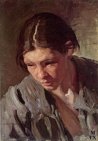 Картина : Н.А. Касаткин. «Торфянка. Этюд»