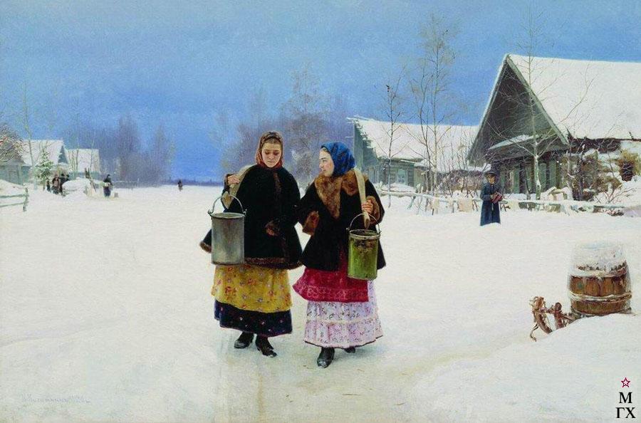 Картина : Н.А. Касаткин. Соперницы. 1890