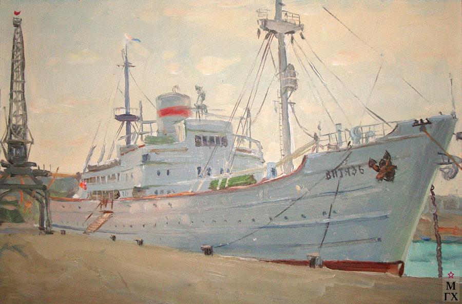 Г. В. Кибардин. Научно-исследовательское судно