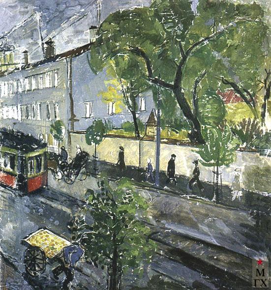 Кизевальтер В. С. На Моховой. Москва. Начало 1930-х. Х.М. 67х64