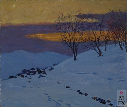 Б.А. Колозян. Картина : Зимняя ночь. 1971
