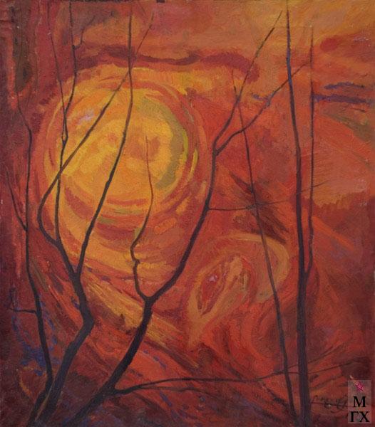 Б.А. Колозян. Картина :  Солнце. 1981