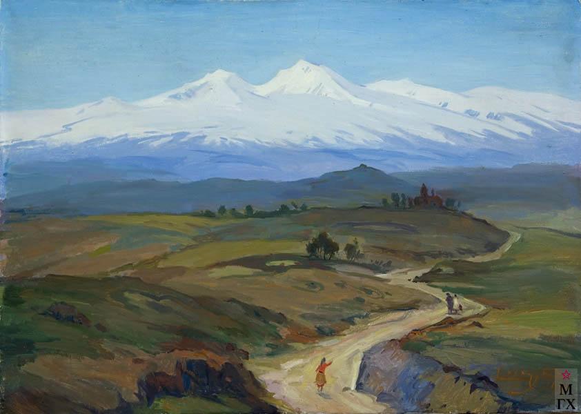 Б.А. Колозян. Картина : Арагац. 1990