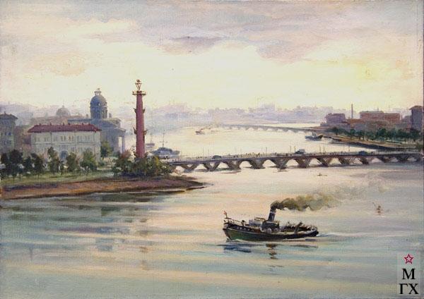 Б.А. Колозян. Картина : Питерская баржа.