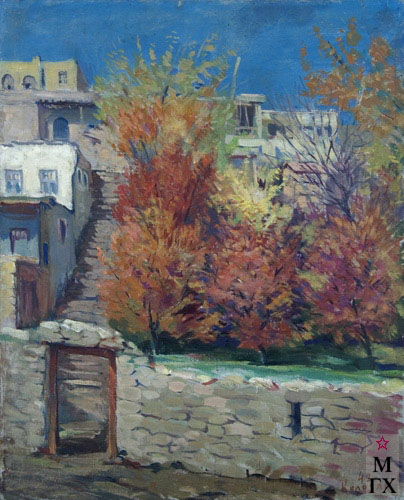 Б.А. Колозян. Картина :  Осень в старом Ереване. 1942.