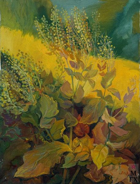 Б.А. Колозян. Картина : Осенние кусты. 1986