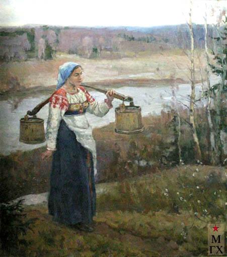 Коробов А. А. Вешние воды. 1952. Х.М. 149х120. (Сочинский музей изобр. искусств).
