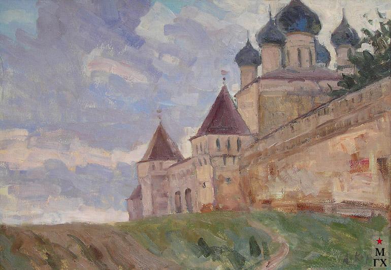 Коробов А. А. Борисоглебский монастырь. 1965. К.М. 50х70
