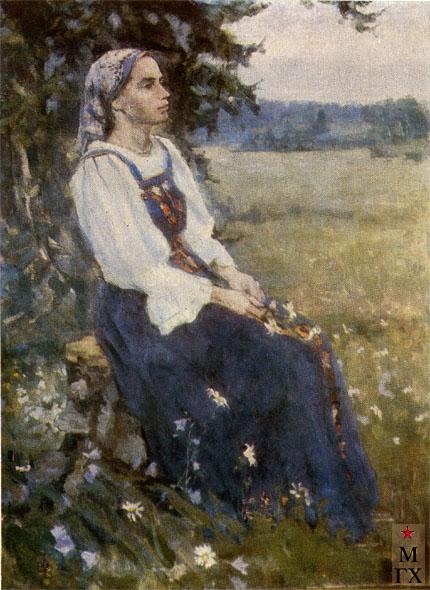 Коробов А. А. Портрет жены. 1964. Х.М. 125х94