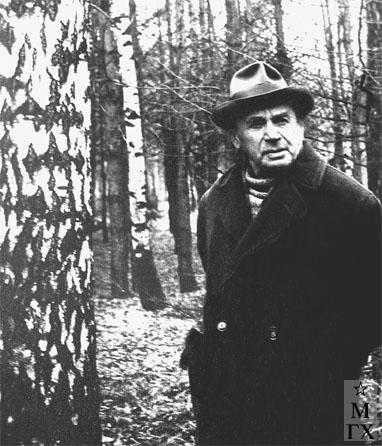 А.А. Коробов в Переделкино 23 марта 1977 г. (за 3 недели до кончины).