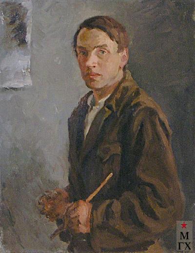 Коробов А.А. Автопортрет. 1932. Х.М. 80х79.