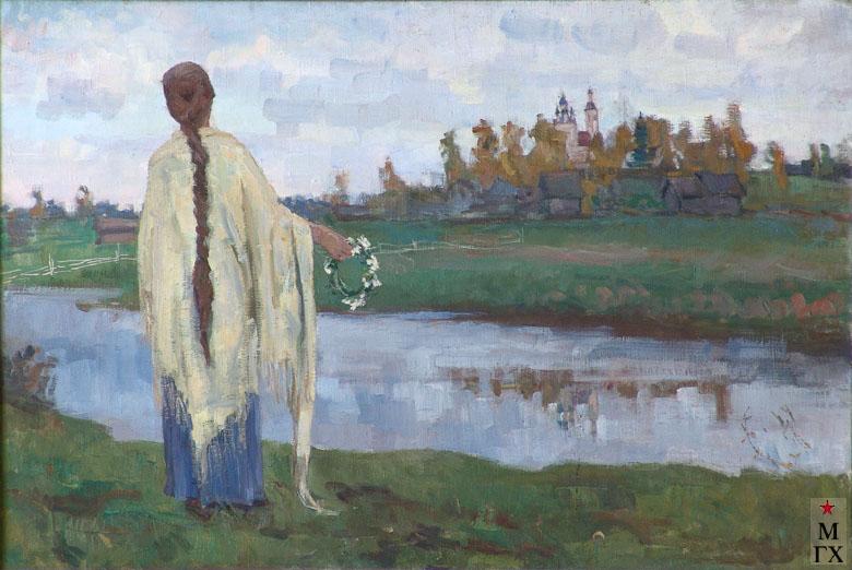 Коробов А.А. На родине Параши Жемчуговой. 1968. Х.М. 80х120