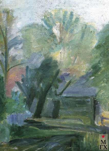 Коротеев В. А. Розовые деревья. 1927. Х.М. 72х53. ГТГ.
