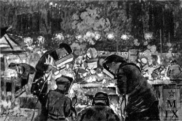 шахтер рабочий рисунок