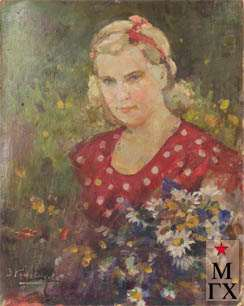 З.А. Кожевникова. Портрет дочери. 1948. Х.М. 58х48.