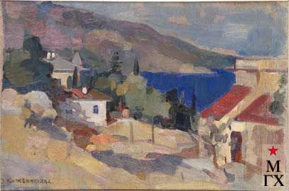 З.А. Кожевникова. Алупка. 1939. Х.М. 42х62.