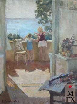 З.А. Кожевникова. Алупка-Сара. Дом творчества художников. 1938. Х.М.