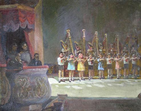 З.А. Кожевникова. Концерт юных музыкантов в Большом театре. 1938. Х.М.
