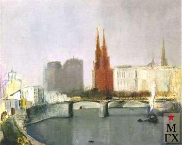 Козлов А. Н. Москва-река. 1933. Х.М.69х90. Нукус