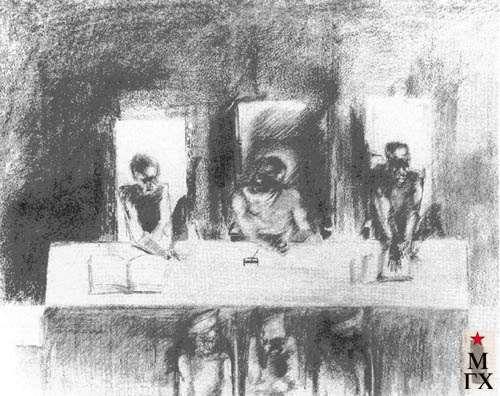 Козлов А. Н. Суд. 1926-1927. Б.Кар. 28.3х35.2. ГРМ