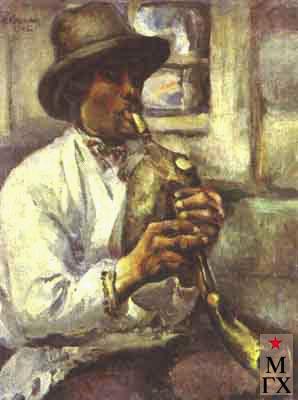 Козочкин Н. С. Чувашский пастух. 1925. Х.М. Чувашский худ. музей