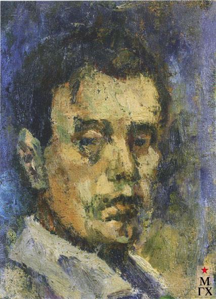Крашенинников А. А. Автопортрет. 1934. К.М. 17х12.6. Нижний Новгород