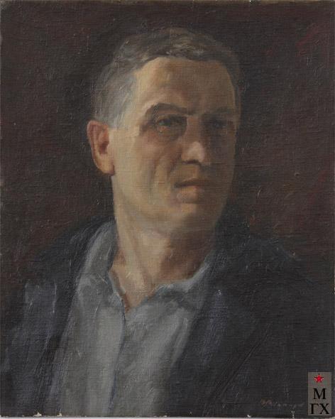 В. И. Леванидов. Автопортрет. 1939. Х.М. 51х41. (Ивановский обл. худ. музей).