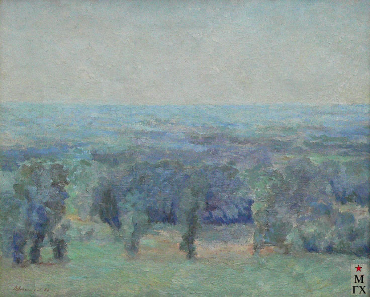 В. И. Леванидов. Голубая даль. 1936. Х.М. 44х54. (Hац. галерея Респ. Коми).