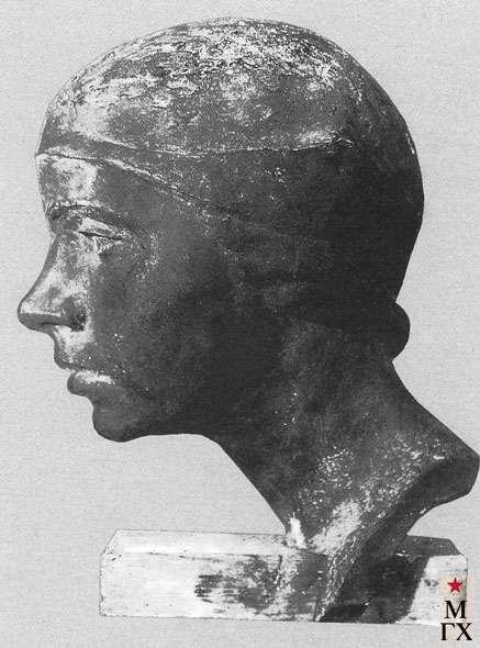 Либерман З. Р. Голова девушки. 1929-30. Скульптура.