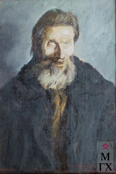 А. В. Лобанов . Чувашский сказитель Н.Волков.1943 г. Х., м. 75,2 х 59,5