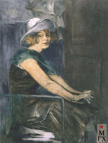 Лопатников Д. Н.  Портрет Л. С. Кутузовой. 1925. Х.М. 90х70.