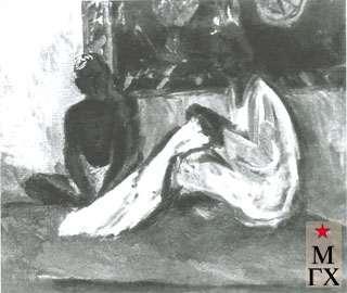 Малеина Е. А. Узбечки за работой. 1929. Х.М. 79х86. Псков.