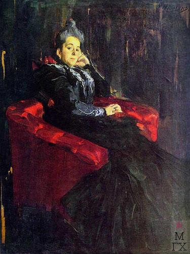 Ф.А. Малявин. Портрет г-жи Поповой. 1899. Х.М.
