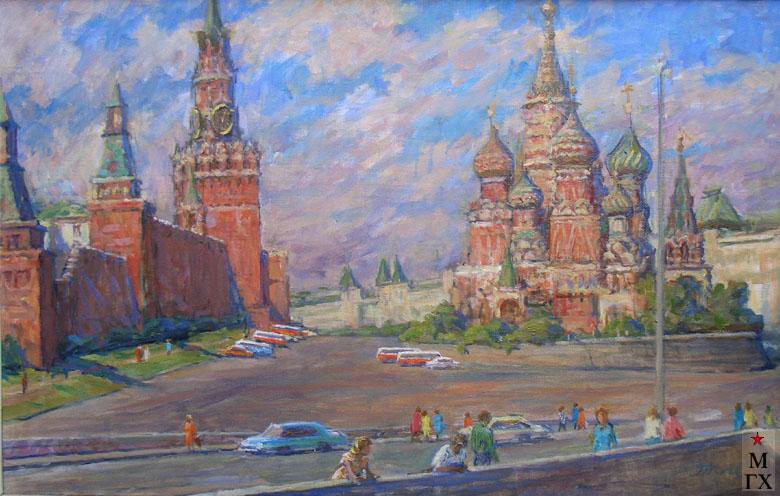 Т.М. Марченко. Москва. Покровский собор и Кремль.