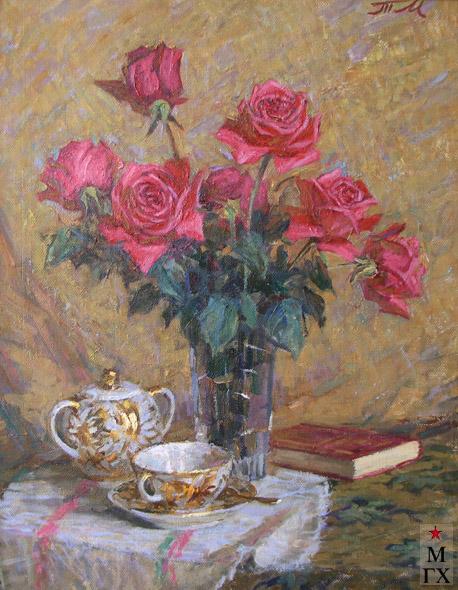 Т.М. Марченко. Натюрморт с розами.